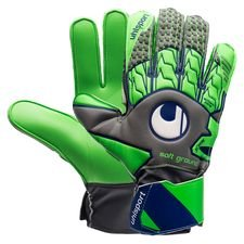 uhlsport goalkeeper gloves tensiongreen soft advanced - dark grey/fluo green/navy kids - goalkeeper gloves