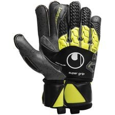 Uhlsport Keepershandschoenen Supergrip Bionik+ - Zwart/Fluo Yellow/Grijs