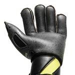 uhlsport målmandshandske supergrip bionik+ - sort/gul/grå - målmandshandsker