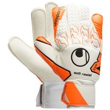 Uhlsport Målmandshandske Soft Resist - Hvid/Orange/Sort