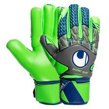 Uhlsport Målmandshandske TensionGreen Supersoft HN - Grå/Grøn/Navy