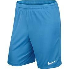 nike shorts park ii knit - blå/hvid - fodboldtrøjer