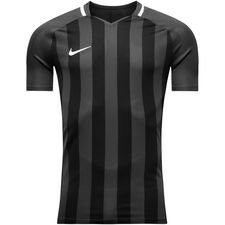 nike spilletrøje striped division iii k/æ - grå/sort - fodboldtrøjer
