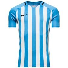 nike playershirt striped division iii s/s - university blue/white - football shirts