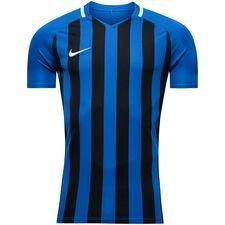 nike spilletrøje striped division iii k/æ - blå/sort - fodboldtrøjer