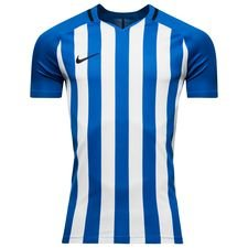nike playershirt striped division iii s/s - royal blue/white - football shirts