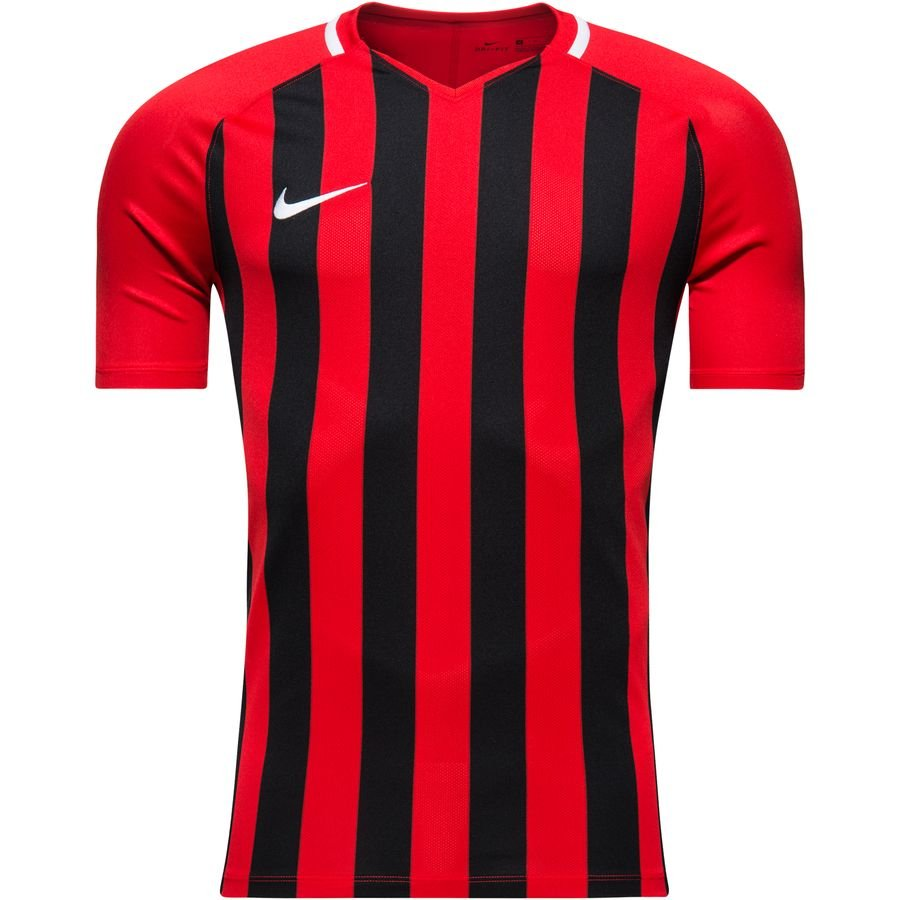 Nike Maillot Striped Division III - Rouge/Noir