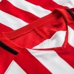 nike spilletrøje striped division iii k/æ - rød/hvid - fodboldtrøjer