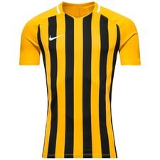 nike playershirt striped division iii s/s - yellow/black - football shirts