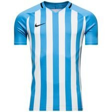 nike playershirt striped division iii s/s - university blue/white kids - football shirts