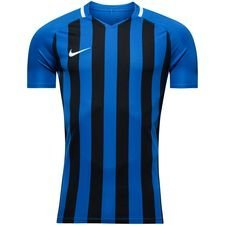 nike playershirt striped division iii s/s - blue/black kids - football shirts