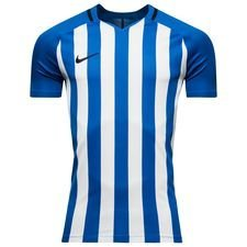 nike spilletrøje striped division iii k/æ - blå/hvid børn - fodboldtrøjer