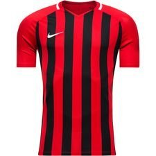 nike playershirt striped division iii s/s - university red/black kids - football shirts