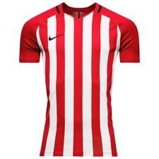 nike playershirt striped division iii s/s - university red/white kids - football shirts