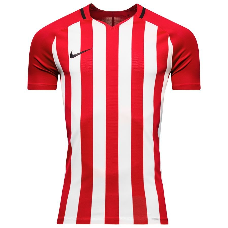Nike Maillot Striped Division III - Rouge/Blanc Enfant