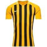 nike spilletrøje striped division iii k/æ - gul/sort børn - fodboldtrøjer