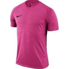 nike spilletrøje tiempo premier - pink/sort børn - fodboldtrøjer