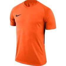 nike spilletrøje tiempo premier k/æ - orange/sort - fodboldtrøjer