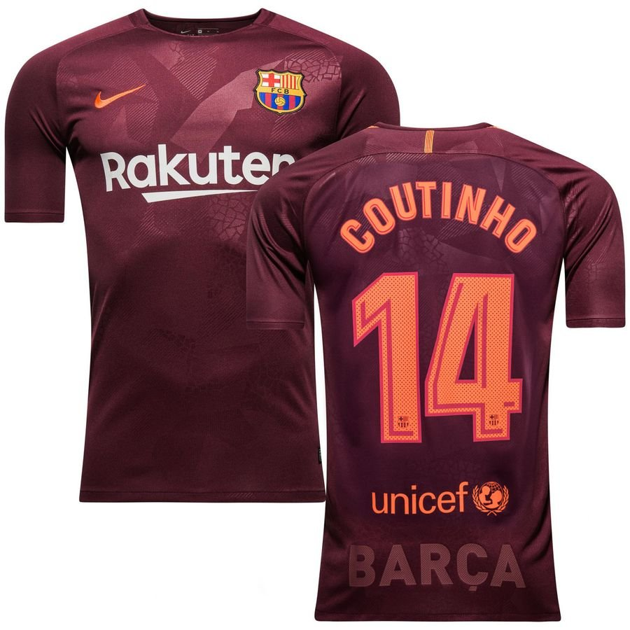 huge selection of 0133c 167f8 Barcelona Third Shirt 2017/18 COUTINHO 14 Kids | www ...