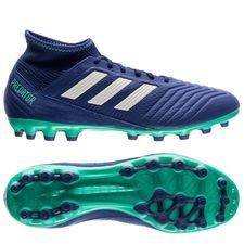 adidas predator 18.3 ag deadly strike - blå/grøn/grøn - fodboldstøvler