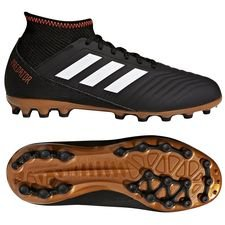 adidas predator 18.3 ag skystalker - sort/hvid/rød børn - fodboldstøvler