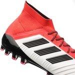 adidas predator 18.1 ag cold blooded - hvid/sort/rød - fodboldstøvler