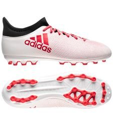 adidas X 17.3 AG Cold Blooded - Wit/Rood/Zwart Kinderen