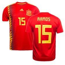 spain home shirt world cup 2018 ramos 15 - football shirts