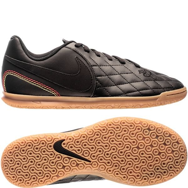 nike tiempox rio iv 10r ic city collection - sort/guld limited edition - indendørssko