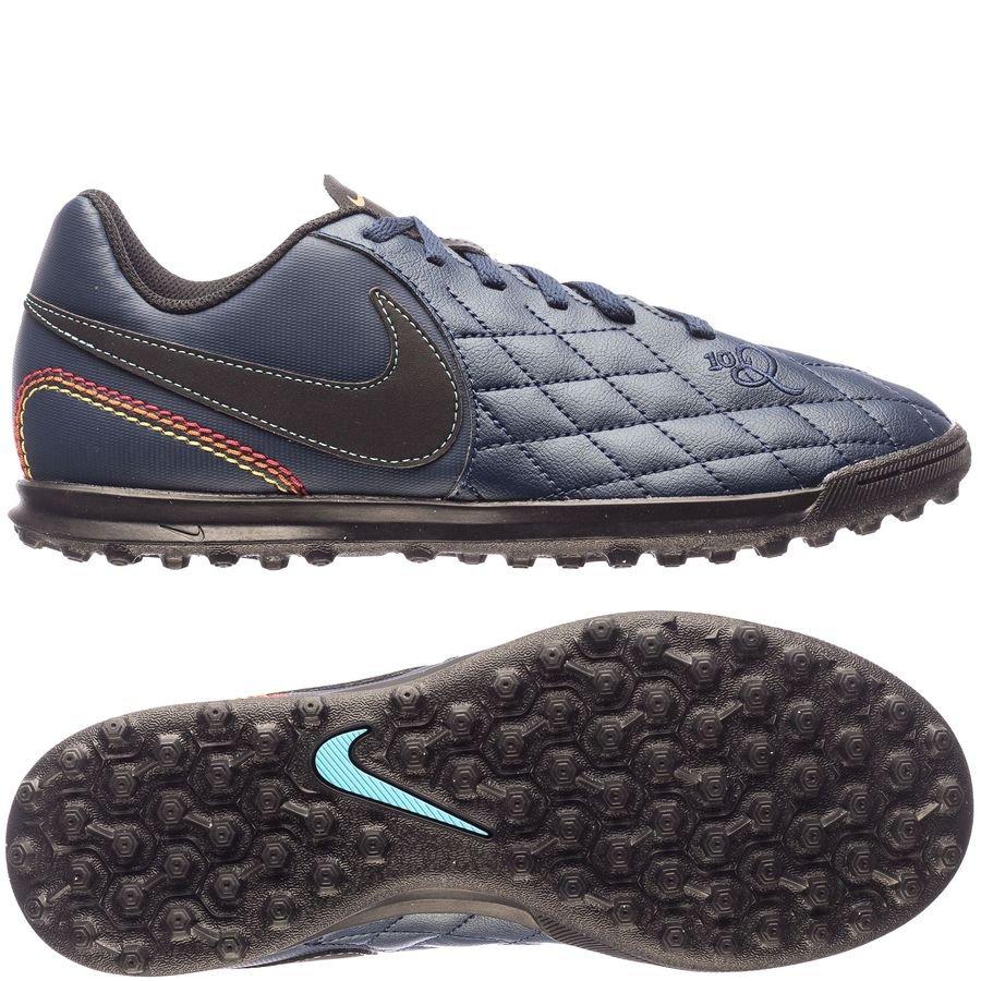 Nike TiempoX Rio IV 10R TF City Collection - Navy/Sort/Blå Børn LIMITED EDITION