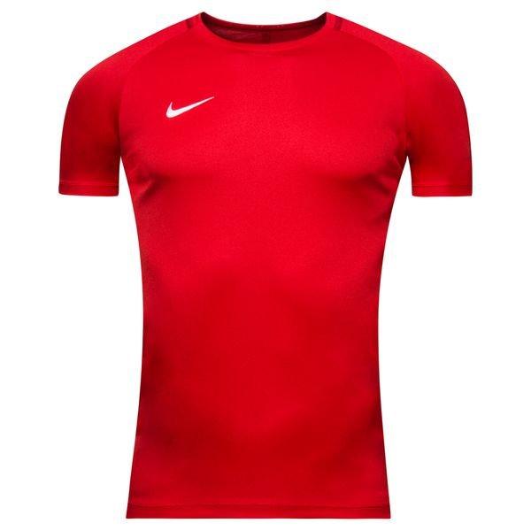 nike spilletrøje dry academy 18 k/æ - rød/hvid børn - fodboldtrøjer