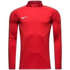 nike træningstrøje dry academy 18 - rød/hvid - træningstrøjer