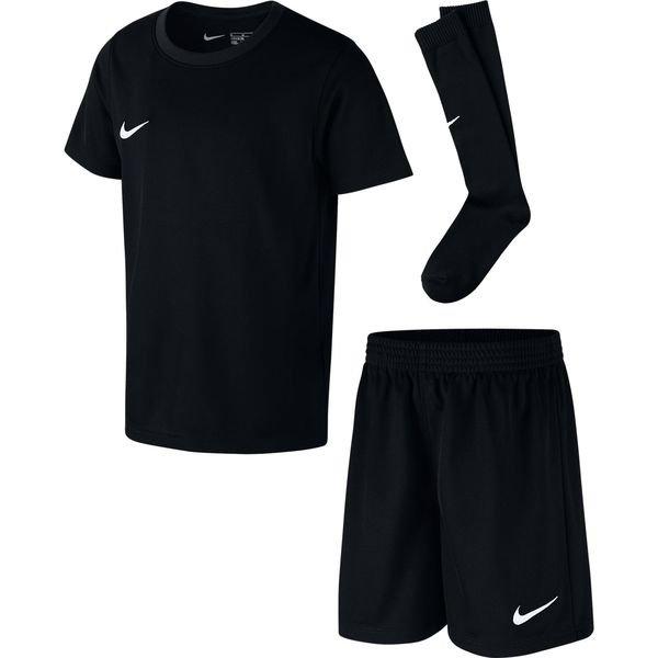 nike park dry mini-kit - sort/hvid børn - fodboldtrøjer