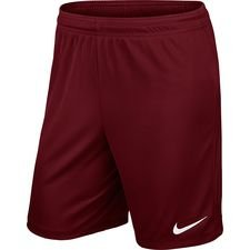 nike shorts park ii knit - team red/white kids - shorts