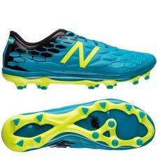 new balance visaro 2.0 pro fg - blå/neon/sort - fodboldstøvler