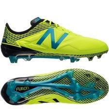 new balance furon 3.0 pro fg - neon/sort/blå - fodboldstøvler