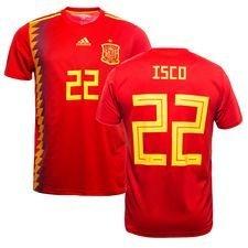 spanien hjemmebanetrøje vm 2018 isco 22 børn - fodboldtrøjer