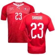 switzerland home shirt world cup 2018 shaqiri 23 kids - football shirts