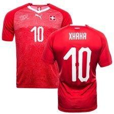 schweiz hjemmebanetrøje vm 2018 xhaka 10 børn - fodboldtrøjer