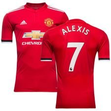 manchester united home shirt 2017/18 alexis 7 kids - football shirts