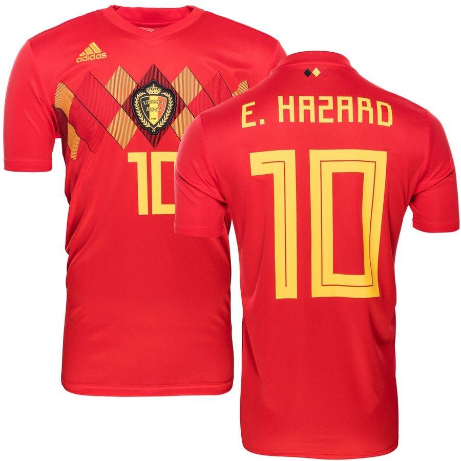 d19ba61cbcb Belgium Home Shirt World Cup 2018 E. HAZARD 10 Kids | www.unisportstore.com