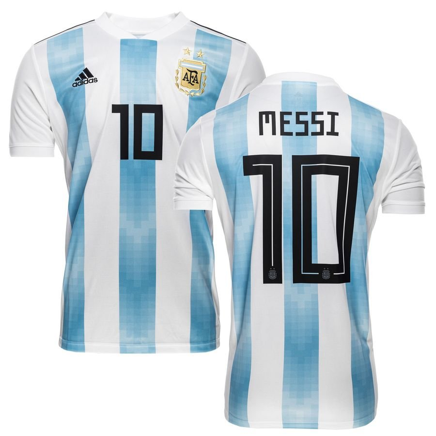 argentinien heimtrikot wm 2018 messi 10 kinder. Black Bedroom Furniture Sets. Home Design Ideas