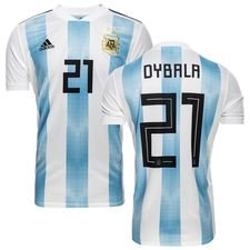 argentina home shirt world cup 2018 dybala 21 kids - football shirts