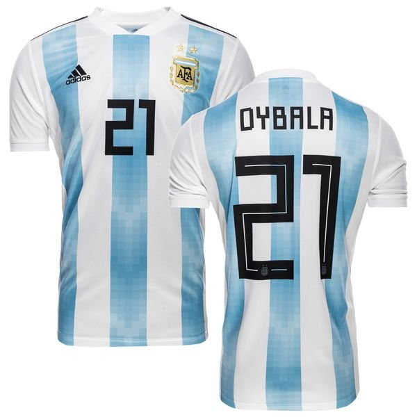 designer fashion 6d0f4 5b65b Argentina Home Shirt World Cup 2018 DYBALA 21 Kids | www ...