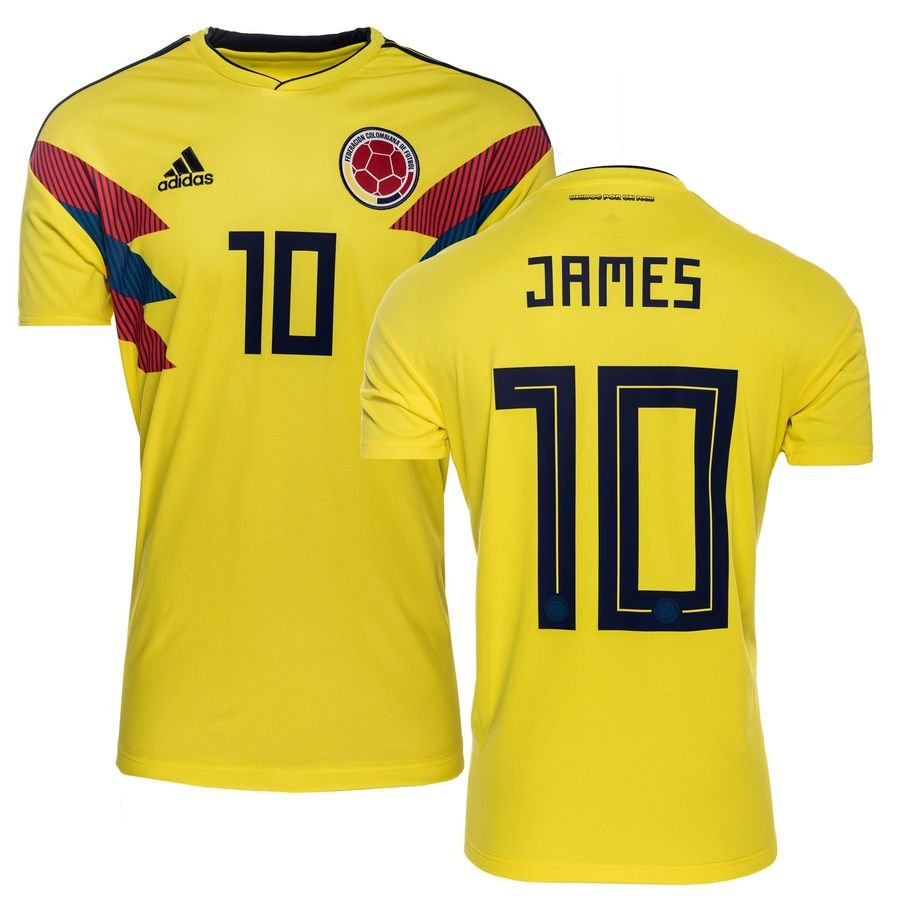 colombia home shirt world cup 2018 james 10 - football shirts ... 83d573dd4