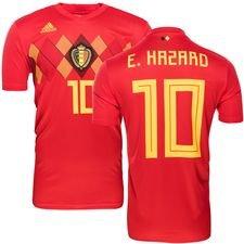 belgien hjemmebanetrøje vm 2018 e. hazard 10 - fodboldtrøjer