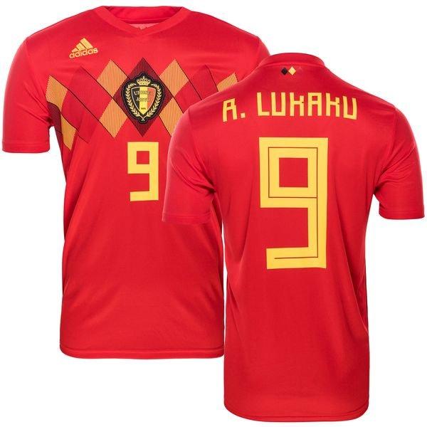 low priced 3c302 a04c6 Belgium Home Shirt World Cup 2018 R. LUKAKU 9 Kids | www ...