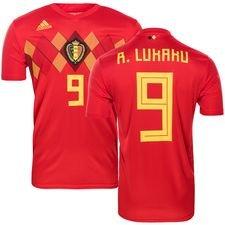 belgien hjemmebanetrøje vm 2018 r. lukaku 9 børn - fodboldtrøjer