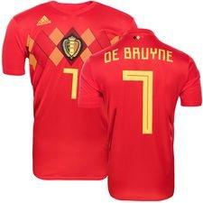 belgium home shirt world cup 2018 de bruyne 7 kids - football shirts