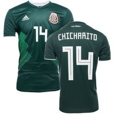 mexico hjemmebanetrøje vm 2018 chicharito 14 børn - fodboldtrøjer